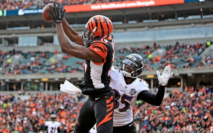 NFL - A.J. Green Cincinnati Bengals (Foto: Andrew Weber / Getty Images)