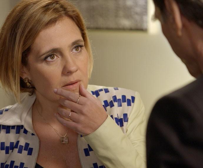 A loira acredita na aliança com o executivo (Foto: TV Globo)