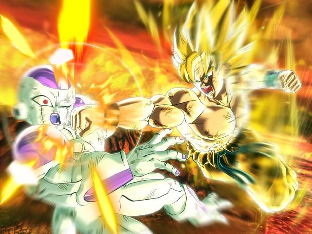 Goku e vilão Freeza se enfrentam em imagem do novo game 'Dragon Ball Xenoverse' (Foto: Divulgação/Bandai Namco)