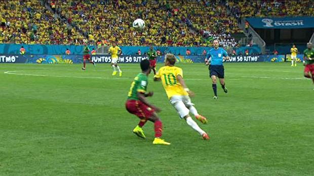 Neymar Brasil e Camarões (Foto: Reprodução)