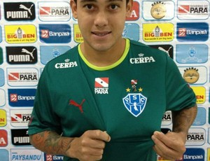 Diego Barboza chegou ao Paysandu neste domingo (Foto: Tadeu Verderosa/Ascom Paysandu)