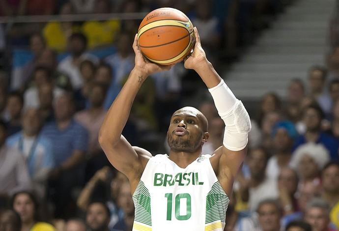 Leandrinho Brasil X Argentina - Mundial de Basquete (Foto: Divulgação / FIBA)
