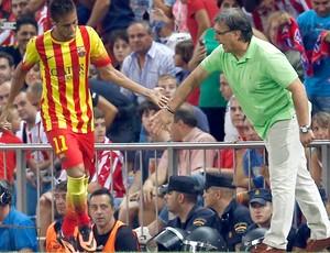 Neymar e Tata Martino Barcelona (Foto: Agência Reuters)