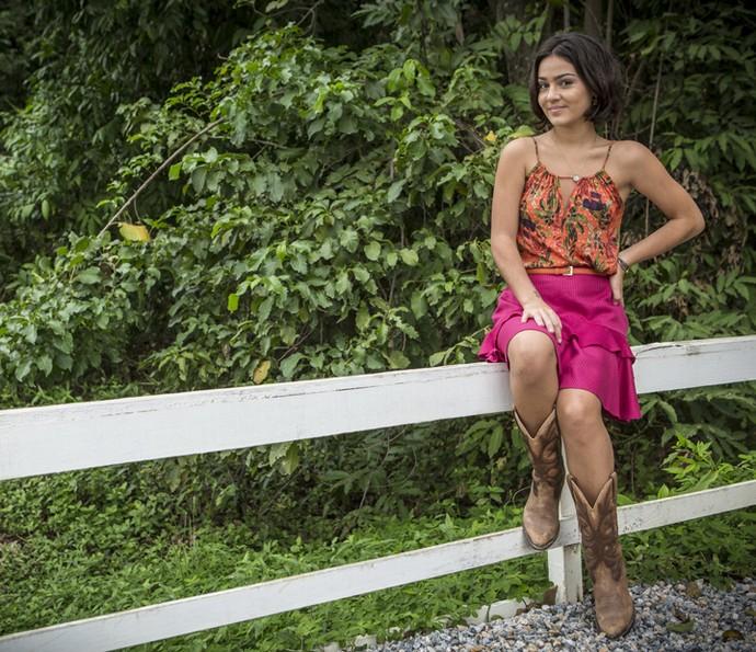 Giullia Buscacio diz que valoriza a praticidade ao se vestir (Foto: Inácio Moraes/ Gshow)