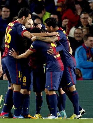 barcelona gol espanyol (Foto: Agência EFE)