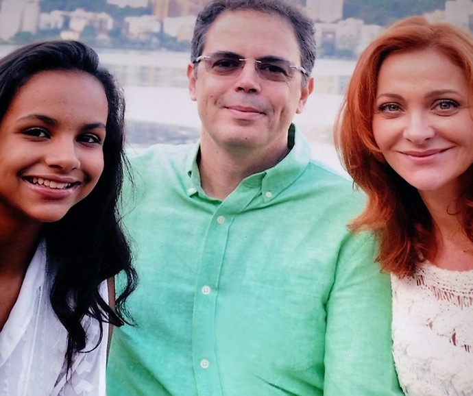 Alexandra Richter com o marido Ronaldo e a filha Gabriela (Foto: Arquivo Pessoal)