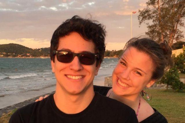 Alice Wegmann com o ex-namorado, Pedro Malan (Foto: Reprodução)