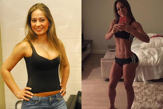 Maira antes e depois (Foto: João Miguel Jr - Globo / Instagram )