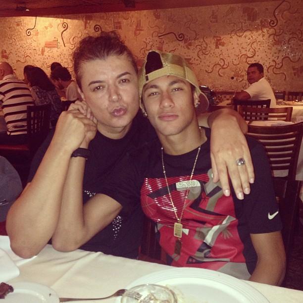 David Brazil e Neymar (Foto: Reprodução)