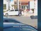 Vídeo mostra quadrilha deixando banco após roubo em Campinas
