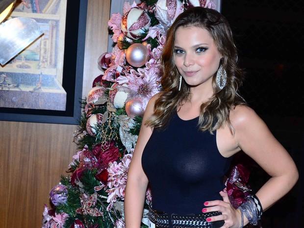 Milena Toscano em festa em São Paulo (Foto: Leo Franco/ Ag. News)