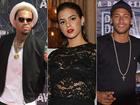 Neymar manda recado a Chris Brown após cantor seguir Bruna Marquezine