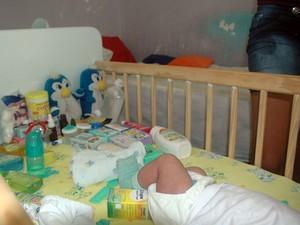 Presídio tem uma ala específica para detentas que são mães (Foto: Valéria Sinésio/G1)