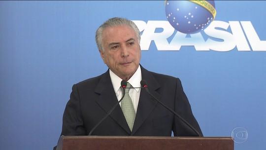 Temer diz que delação de Sérgio Machado é 'mentirosa e criminosa'