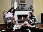 Igor Rickli e Aline Wirley mostram sua casa e posam com o filho de 7 meses