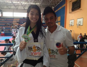bianca oliveira fábio ronin taekwondo (Foto: Fábio Ronin/Divulgação)