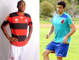montagem Marllon e Lucas do Flamengo (Foto: Editoria de Arte / Globoesporte.com)