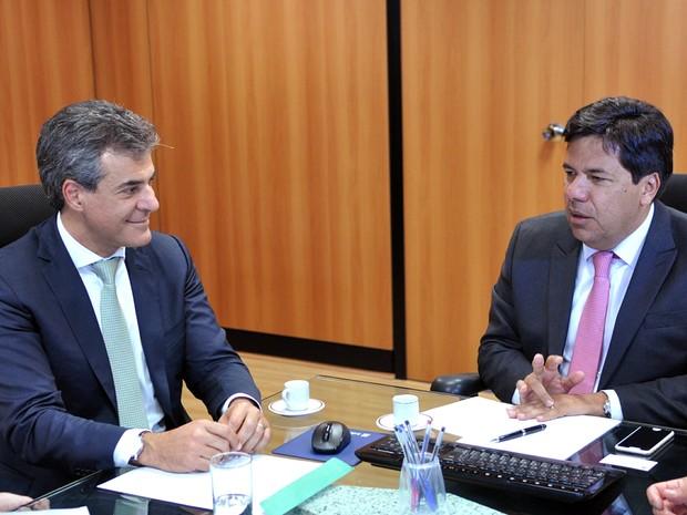Beto Richa se reuniu com ministro da Educação, Mendonça Filho, em Brasília, nesta terça-feira (18) (Foto: Renato Alves / ObritoNews)