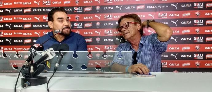 Ivã de Almeida; Sinval Vieira; Vitória (Foto: Rafael Santana)