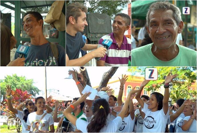 Moradores de rua aprovaram a ação realizada em Manaus, com muita alegria (Foto: Zappeando)