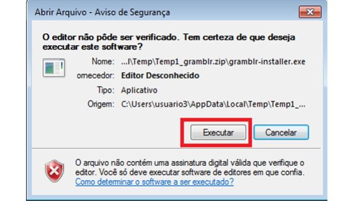 Instalando o Gramblr em seu computador (Foto: Reprodução/Lívia Dâmaso)