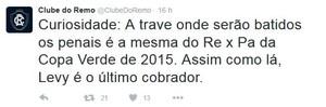 Twitter oficial do Remo (Foto: Reprodução/Twitter)