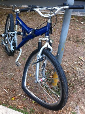 Bicicleta de vítima de atropelamento (Foto: Clara Velasco/ G1)