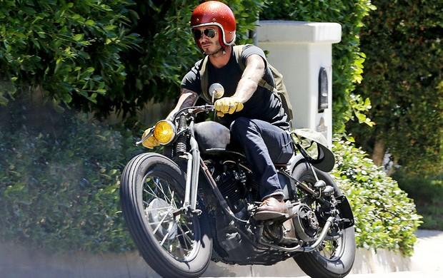 David Beckham em Los Angeles (Foto: Splash News)
