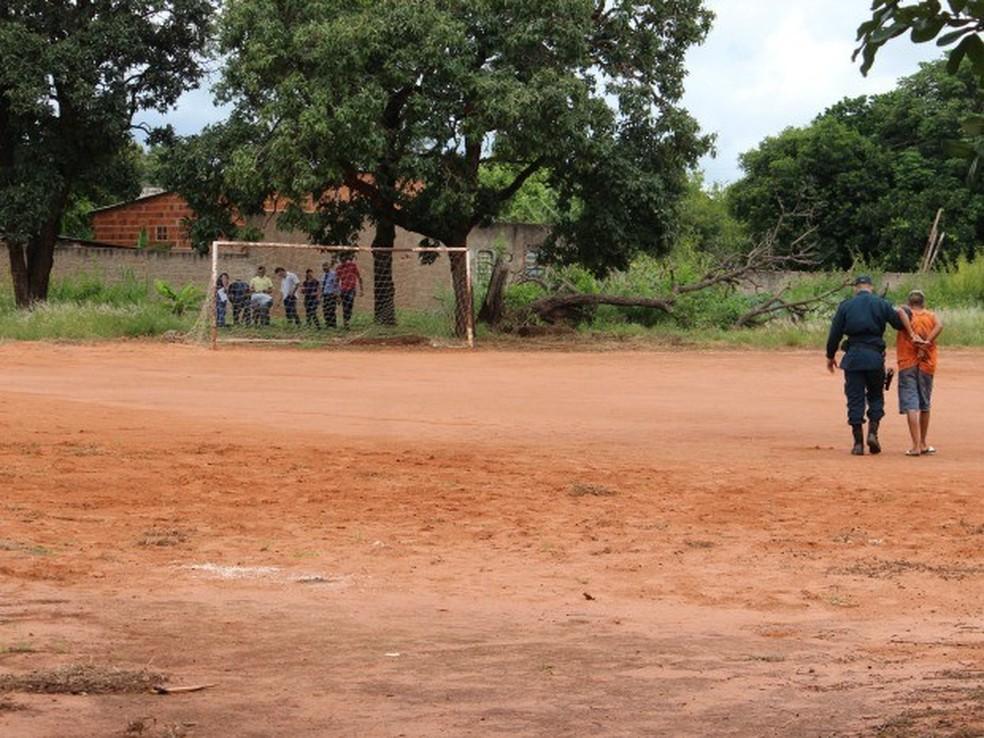 Crime aconteceu em um campo de futebol na capital (Foto: Mirian Machado/G1 MS/arquivo)