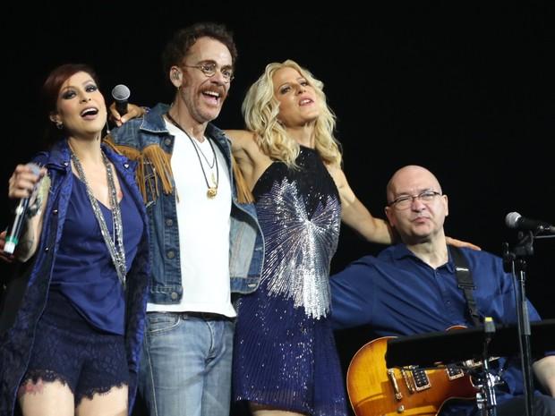 Pitty, Nando Reis, Paula Toller e Herbert Vianna em show no Rio (Foto: Reginaldo Teixeira/ CS Eventos/ Divulgação)