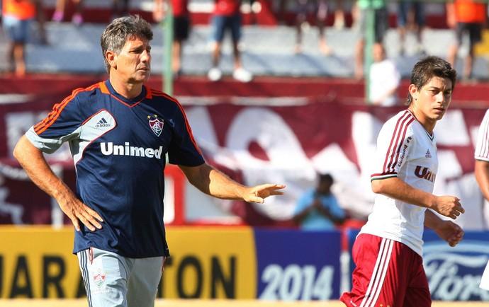 Renato Gaúcho e Conca Fluminense x Madureira (Foto: Photocâmera)