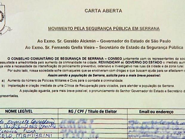 Conseg de Serrana espera obter resposta do governo estadual (Foto: Cláudio Oliveira/ EPTV)