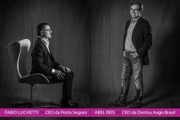 Fabio Luchetti, da Porto Seguro, e Abel Reis, da Dentsu Aegis, falam da importância de vincular trabalho, inovação e propósito – e da difícil missão de manter as pessoas conectadas às empresas  (Foto: Rogério Albuquerque)