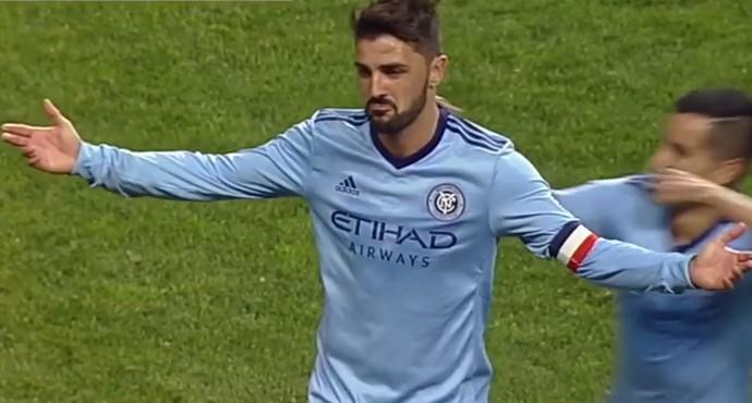 David Villa New York City gol Philadelphia Union (Foto: Reprodução)