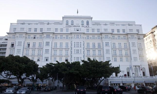 Fachada do hotel Copacabana Palace