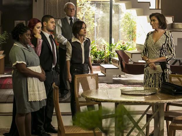 Família fica surpresa (Foto: Inácio Moraes/ TV Globo)