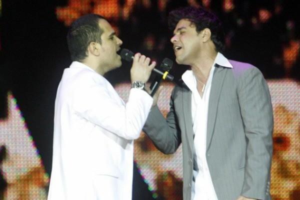 Zezé Di Camargo e Luciano se apresentam em Porto Alegre (Foto: Divulgação/ TV Globo)