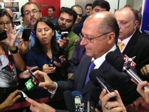 Alckmin em evento sobre novo RG (Foto: Márcio Pinho/G1)