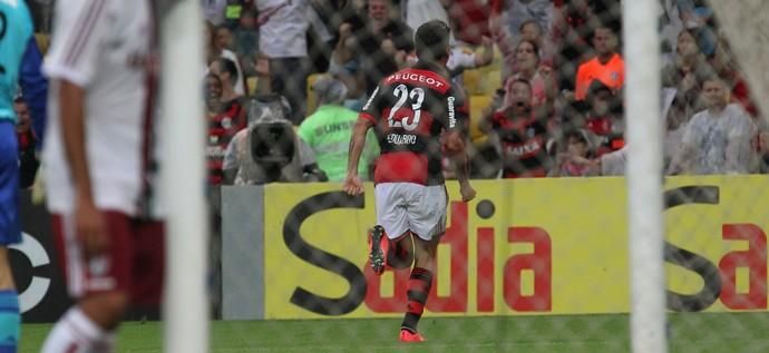 Eduardo da Silva comemora gol pelo Flamengo (Foto: Gilvan de Souza / Flamengo)