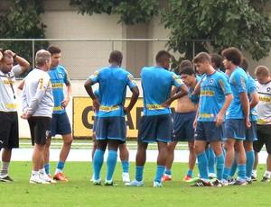 Oswaldo de Oliveira jogadores treino Botafogo (Foto: Fred Huber)