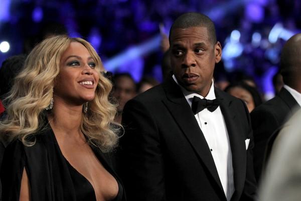 Beyoncé ao lado de seu marido, o rapper e produtor Jay Z (Foto: Getty Images)