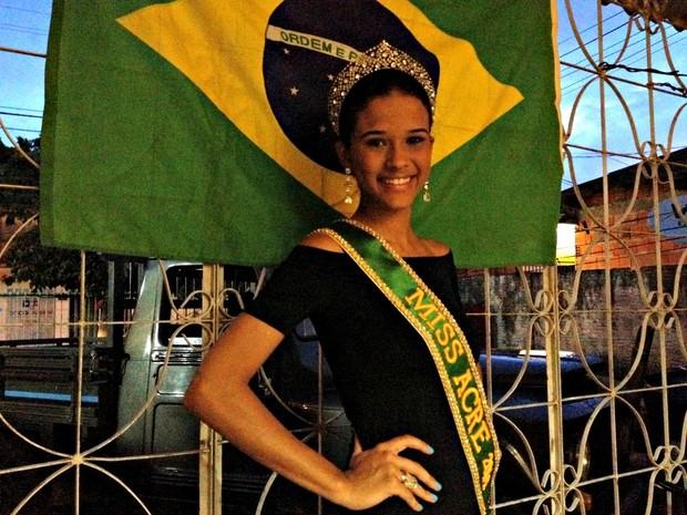 Iasmyne Sampaio, Miss Acre (Foto: Veriana Ribeiro/G1)