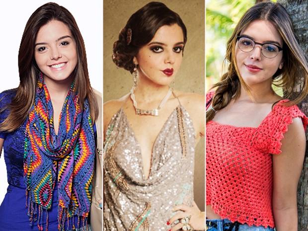 Giovanna Lancellotti foi Cecília em Insensato Coração, Lindinalva em Gabriela e será Bélgica em Alto Astral (Foto: Insensato Coração/ Gabriela/ Raphael Dias/ TV Globo)