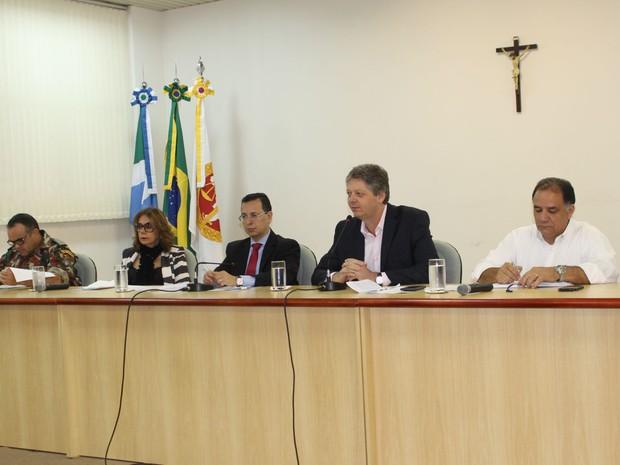 Reunião onde foram apresentados os dados sobre o desmatamento na Bacia do Alto Paraguai (Foto: Anderson Viegas/G1 MS)