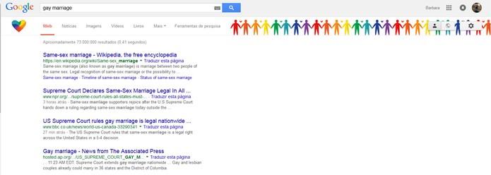 Google e Facebook mostram apoio pela legalização do casamento gay nos EUA (Foto: Reprodução/Barbara Mannara)