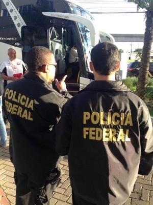 PF faz treinamento durante jogo entre Inter e Atlético-PR no Beira-Rio (Foto: Polícia Federal/Divulgação)
