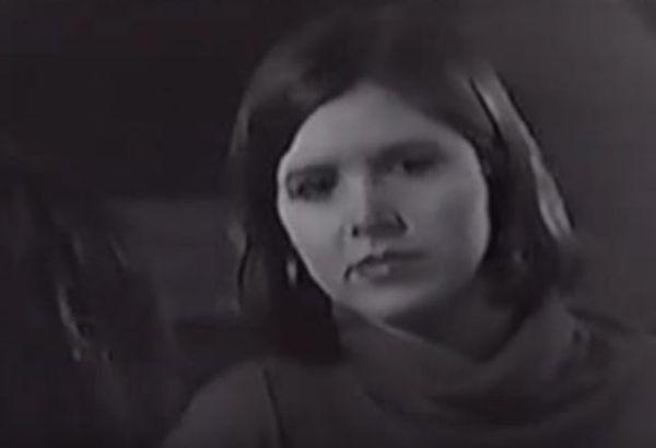 O teste da atriz Carrie Fisher para 'Star Wars' (1977) (Foto: Reprodução)