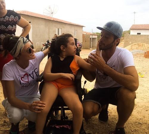 Flavia e Leandro Lima: casal do bem (Foto: Divulgação)