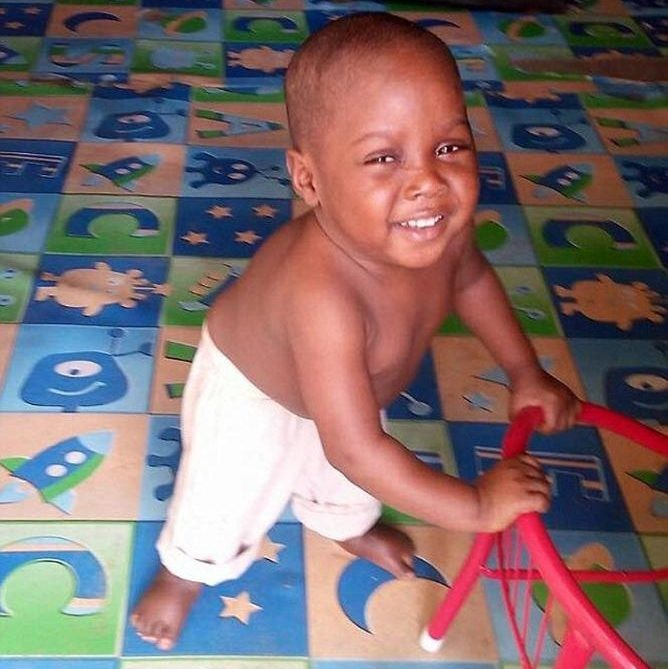 Hope, já recuperado do avançado estado de desnutrição (Foto: Arquivo Pessoal/Anja Ringgren Lovén )