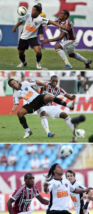 Ronaldinho e Digão Atlético-MG x Fluminense (Foto: Montagem sobre foto da Photocâmera)
